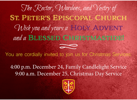 St. Peter's Christmas Service Schedule