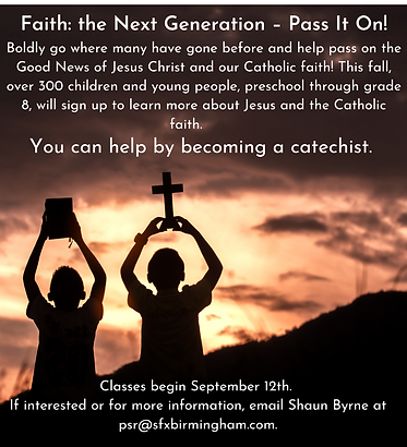 Faith the Next Generation – Pass It On! Boldly go where many have gone before and help pas