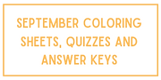 September coloring sheets, quizzes and a