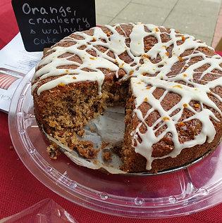 Cranberry Walnut & Orange Cake