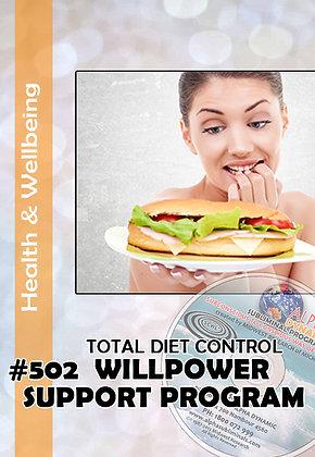 #502-TOTAL DIET CONTROL Willpower Support Program–