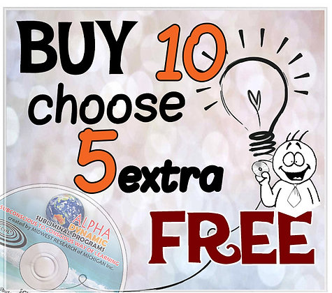 Buy10 programs get an extra 5 Free