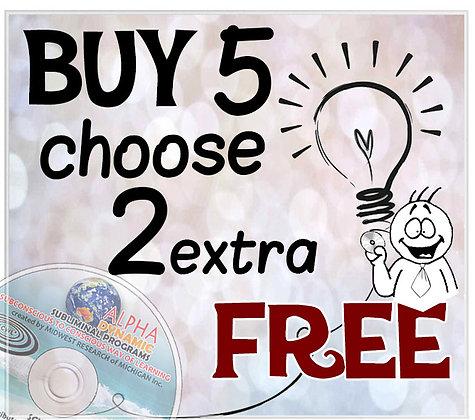 Buy 5 get 2 FREE