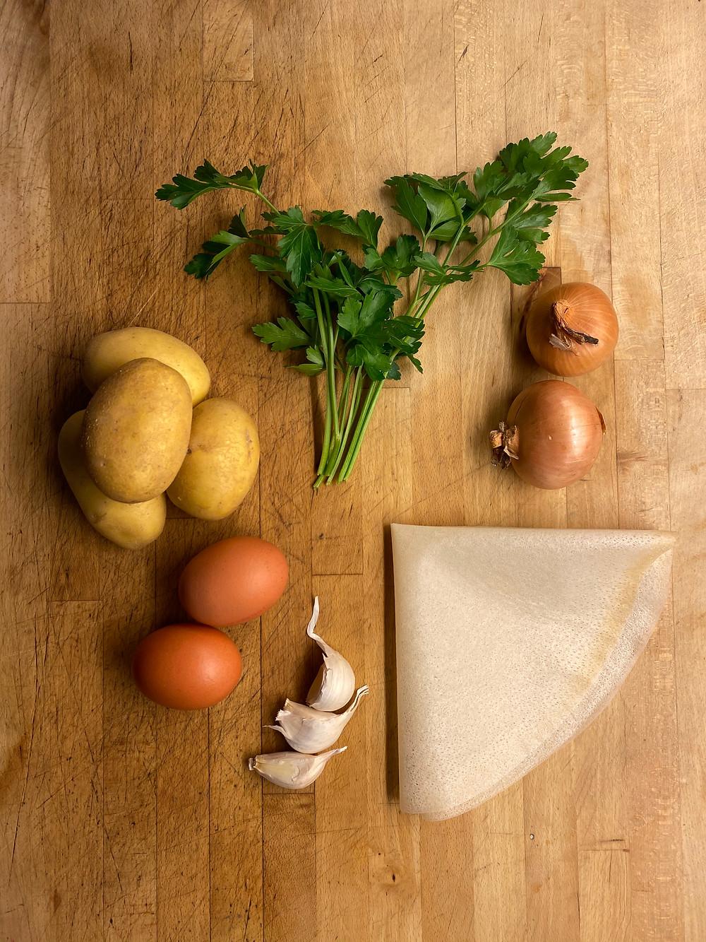 Recette Culinariste   Bestels aux pommes de terre et ail