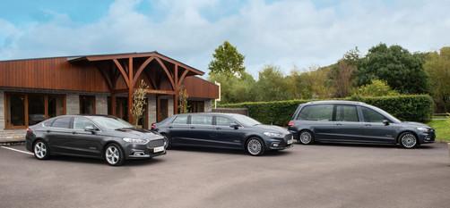Hearse, 7 seat limousine, 4 seat limousine