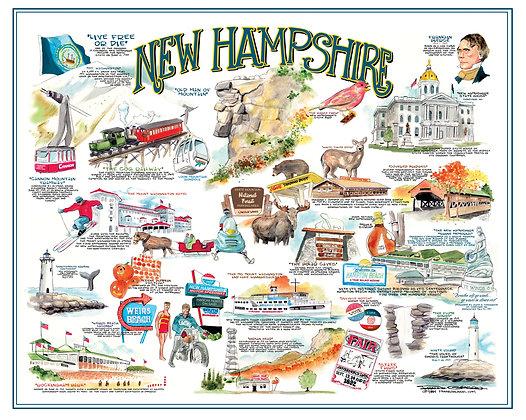 New Hampshire Lithograph