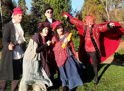 Julian Harries, Emily Bennett, Dougal Lee, Estrid Barton & Ben Waring in THE SCARLET PIPISTRELLE