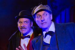 Dick Mainwaring & Julian Harries face danger in Sherlock Holmes & The Hooded Lance