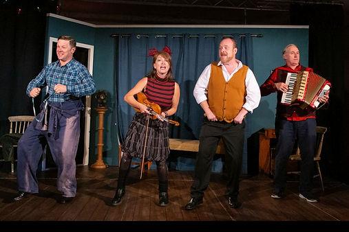 Charles Davies, Emily Bennett, Dick Mainwaring & Julian Harries in A SIDECAR NAMED DESPAIR!