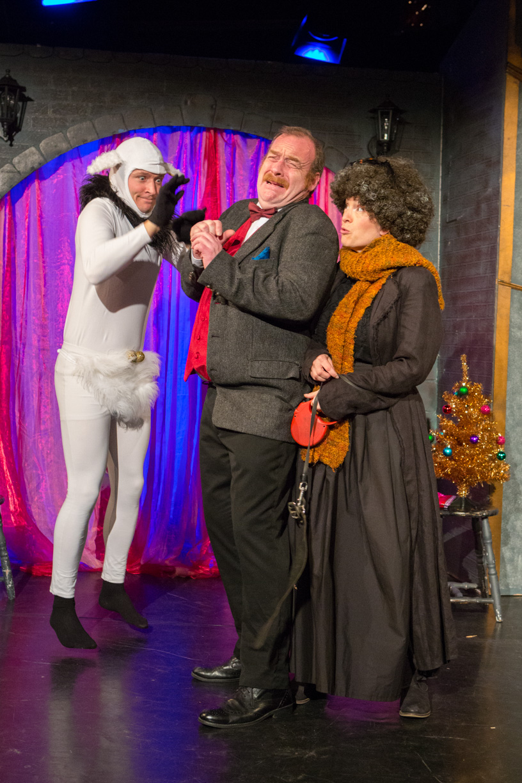 Joe Leat, Dick Mainwaring & Emily Bennett in Sherlock Holmes & The Hooded Lance