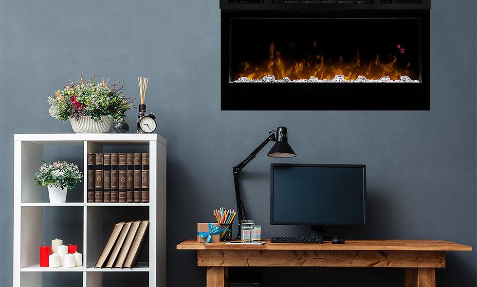 Dimplex Prism 34-In Electric Fireplace w/ Driftwood Log Set - BLF3451 & LF34DWS-