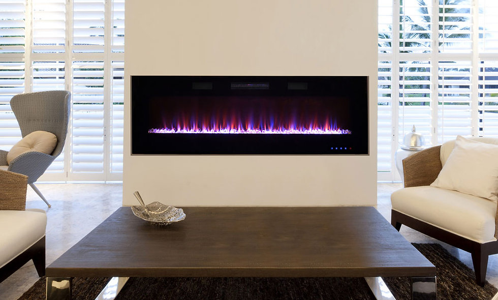 Latitude 60-In Wall Mount Electric Fireplace - SELF60BTFV