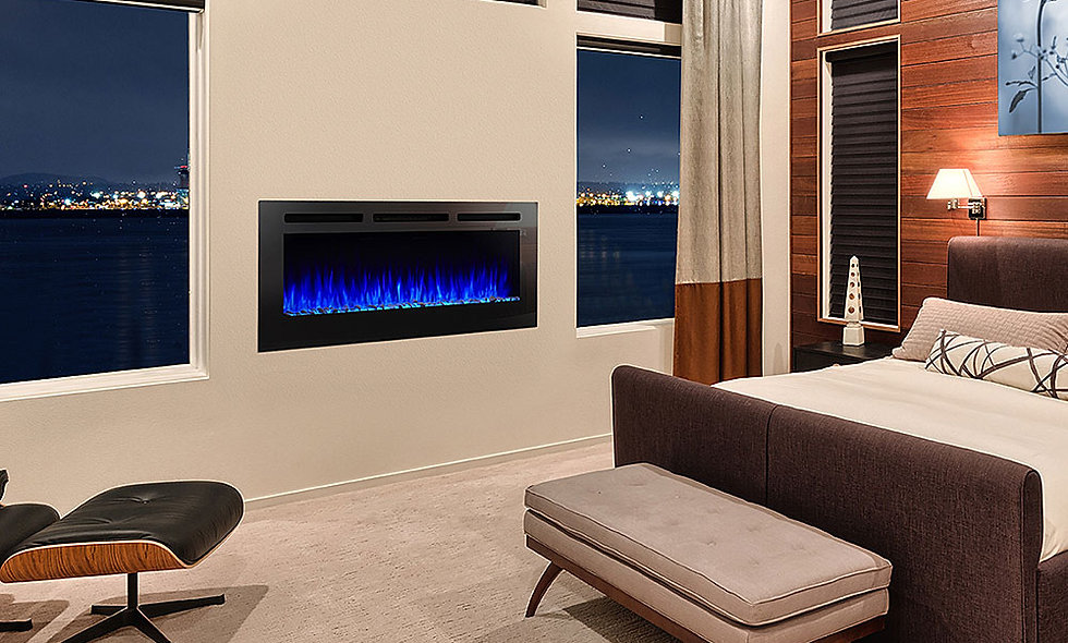 Hearth & Home 48-in Allusion SimpliFire Wall Mount Electric Fireplace - SF-ALL48