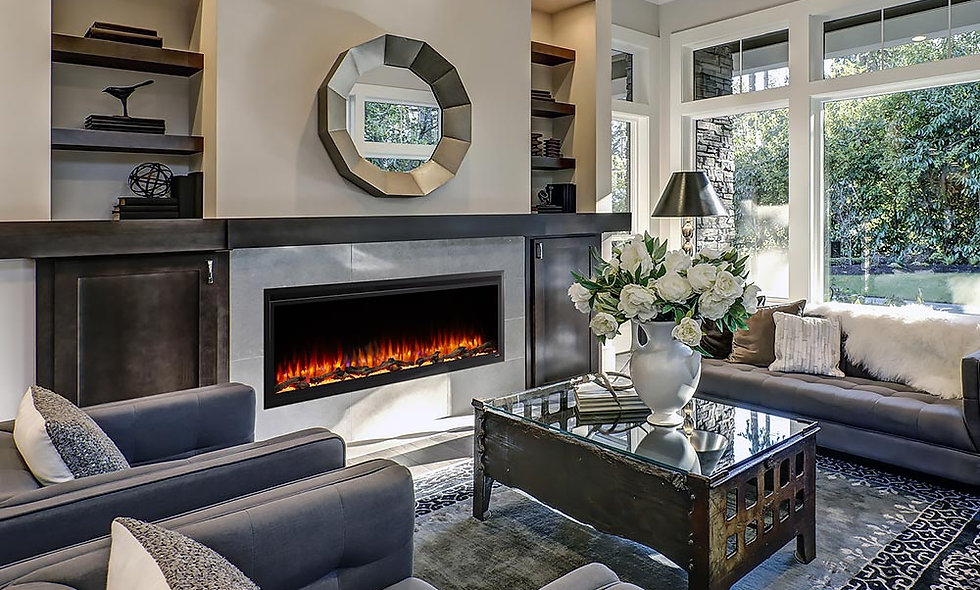Hearth & Home 60-in Allusion Platinum SimpliFire Wall Mount Electric Fireplace -