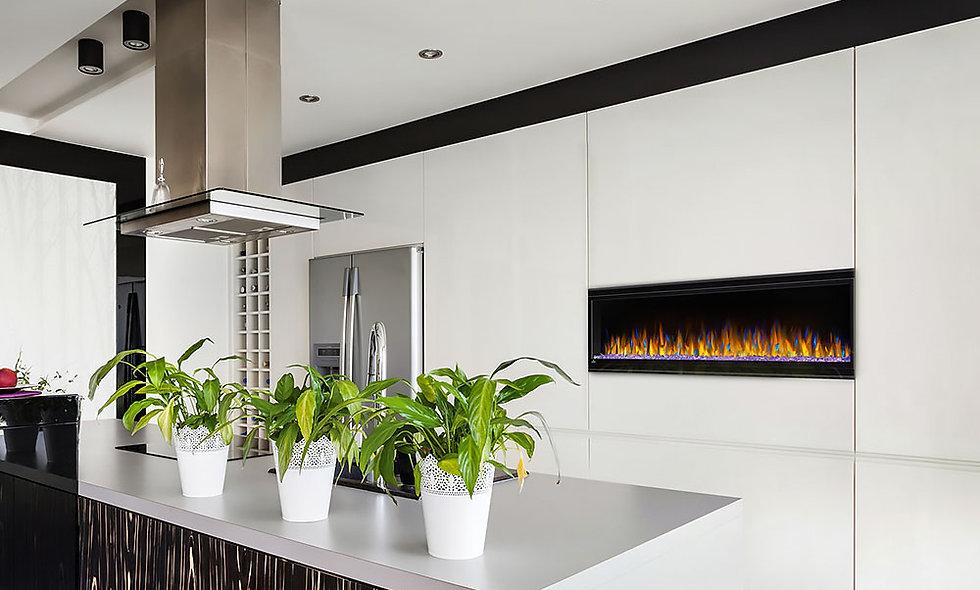 Napoleon 60-In Alluravision Slim Wall Mount Electric Fireplace - NEFL60CHS