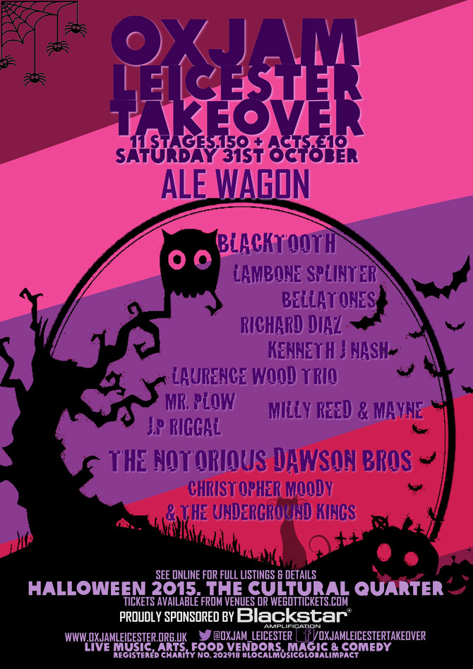 Headliners at The Ale Wagon, OXJAM 2015