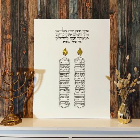 Der Segen über die Shabbat Kerzen