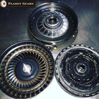 A customers torque converter opened for reconditioning