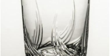 Set of 2 crystal whiskey glasses