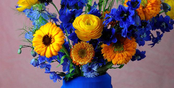 3D printed blue vase S