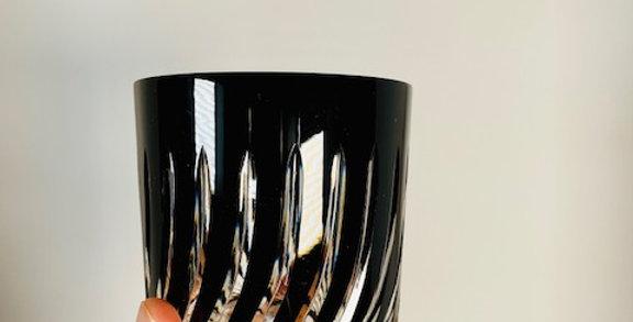 Set of 2 black whiskey glasses (fire)
