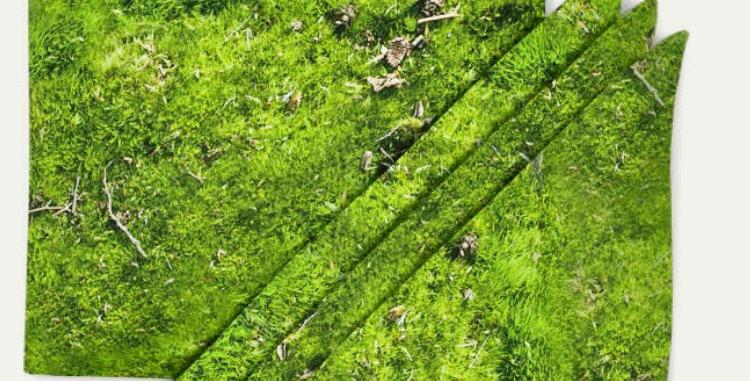 Set of 4 moss pattern napkins