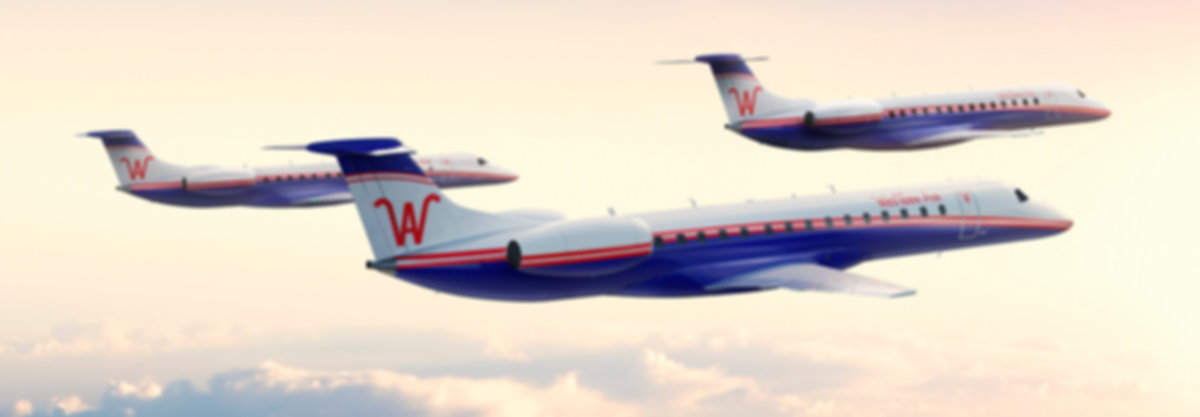 Western Air new jets, Western Air Flights, Western EMB145 JETS