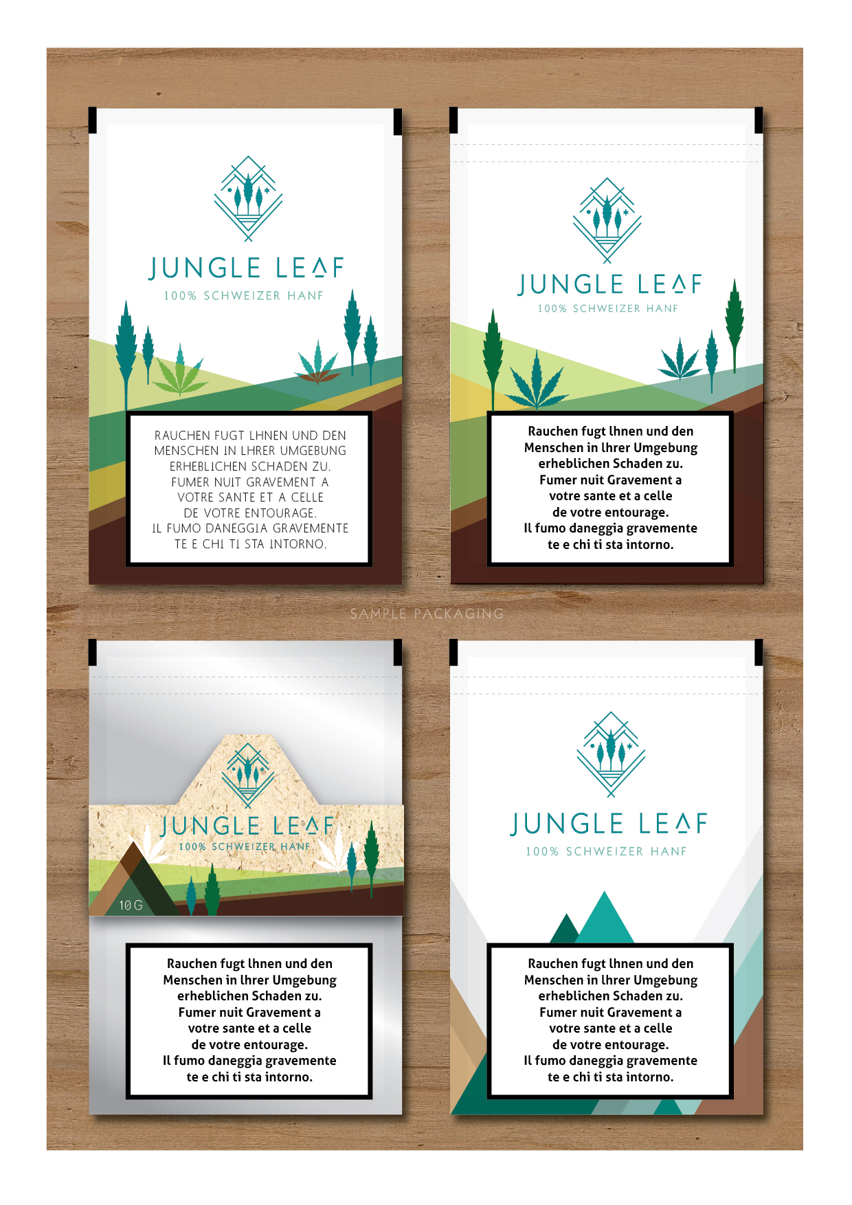 Jungle Leaf Logo Present-04