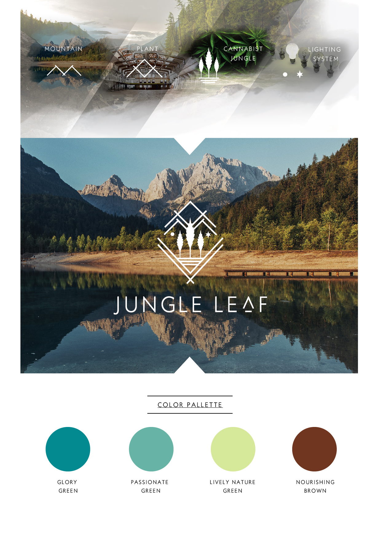 Jungle Leaf Logo Present-02