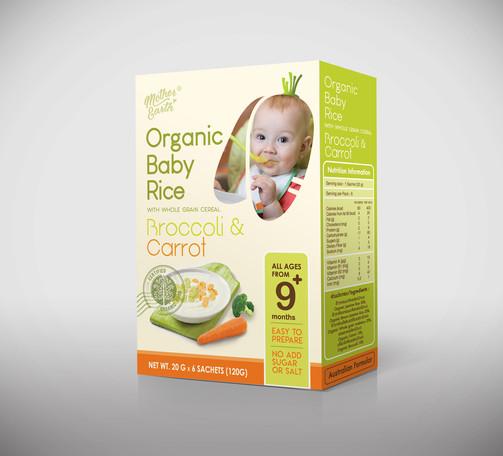 Organic Baby Rice-Broccoli and Carrot-Mo