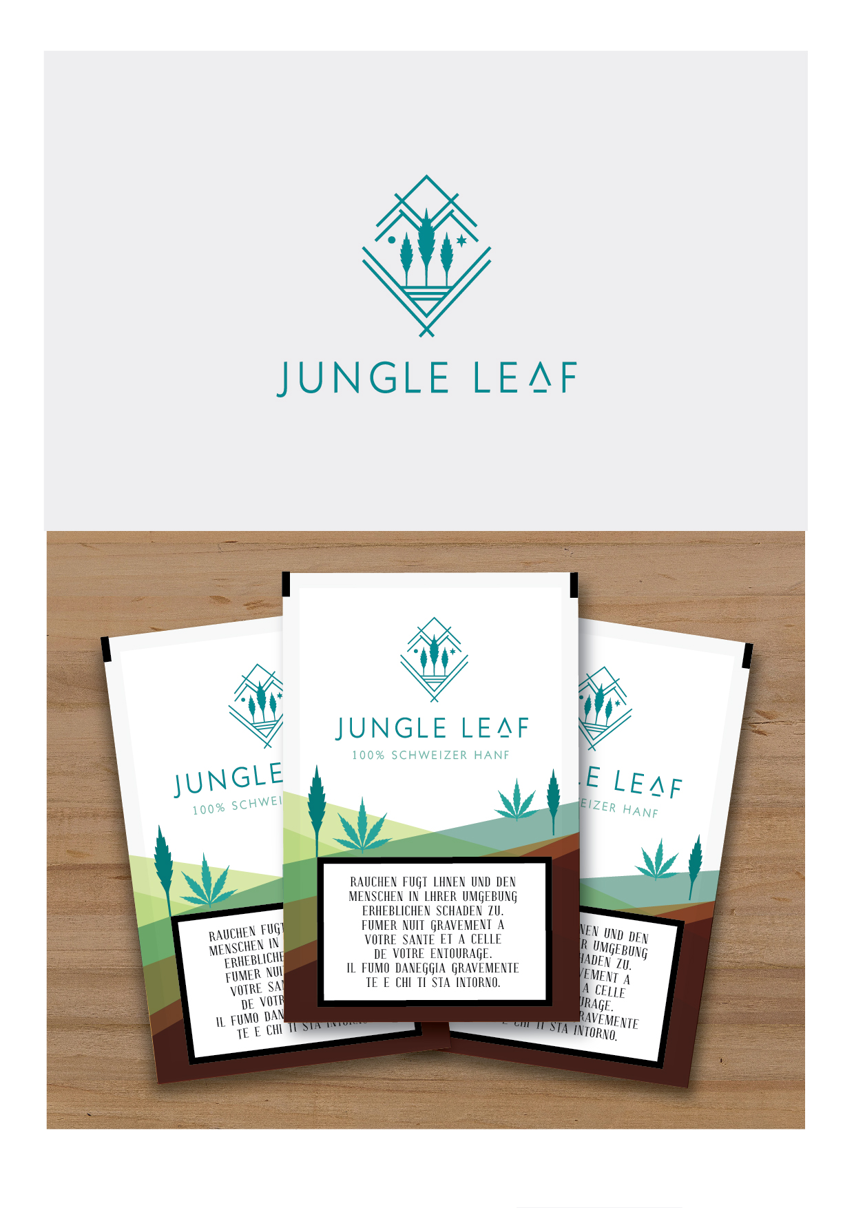 Jungle Leaf Logo Present-01