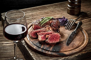 grilled-ribeye-beef-steak-with-red-wine-