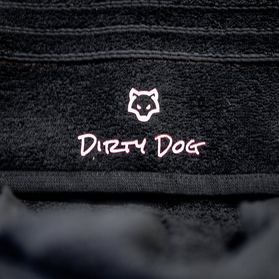 Black Dirty Dog Towel