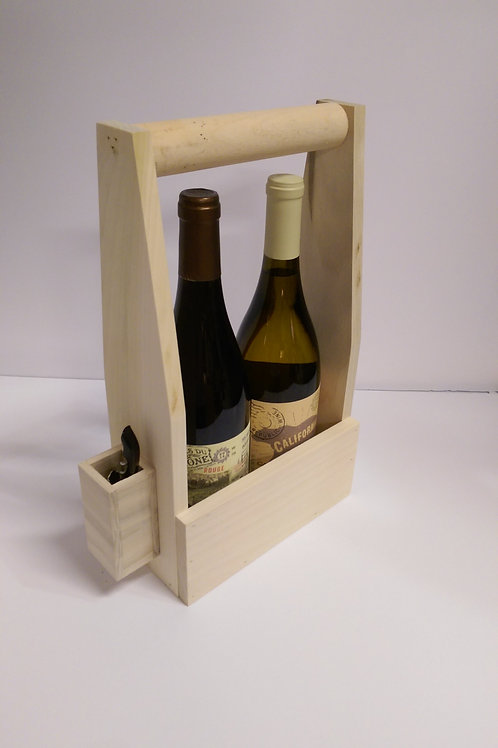 Handcrafted Wine Carry Case - 2 Bottle