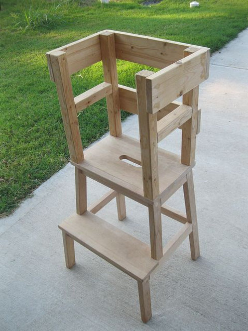 Toddler Counter Height Stool (Raw)