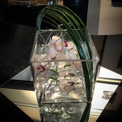Square orchid centre piece