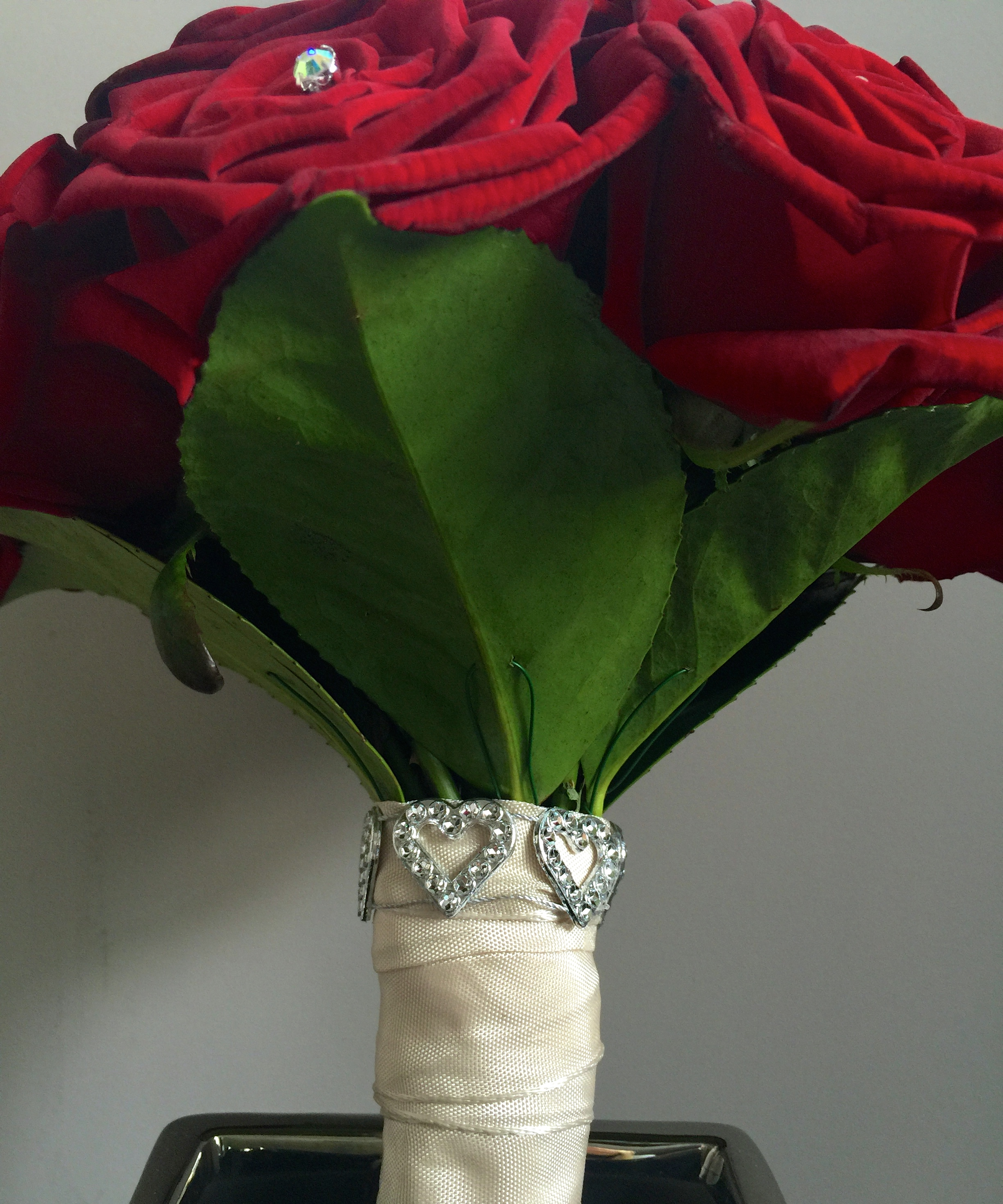 Rose bouquet stem detail