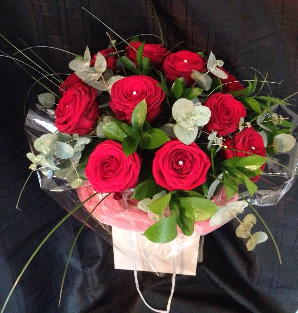 Red Rose Celebration display