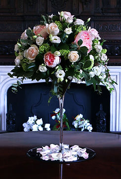 Peonies, roses, avalanche, viburnum, lissianthus