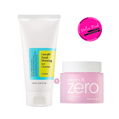 [Value Pack] Double Cleansing *Cosrx cleansing gel + Banila Co balm*