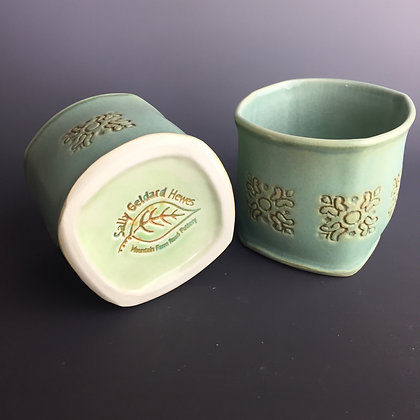 Handleless Cups (Green Matt glaze)  2 in stock