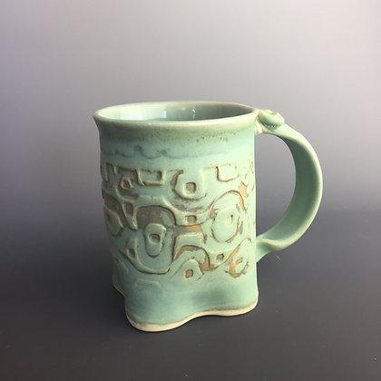 Big Mug; dots and ovals