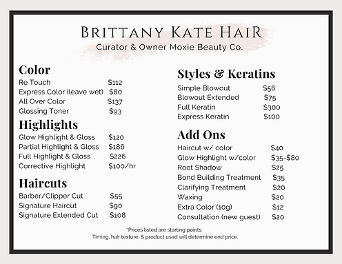Brittany Kate Hair Services