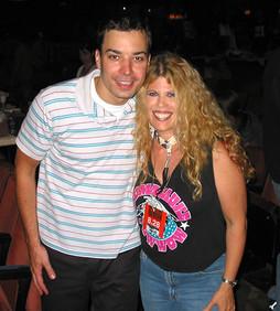 Laura Kaye with Jimmy Fallon
