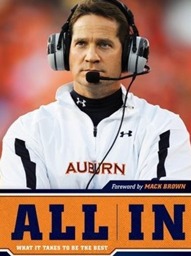 Signed ALL IN book by Gene Chizik