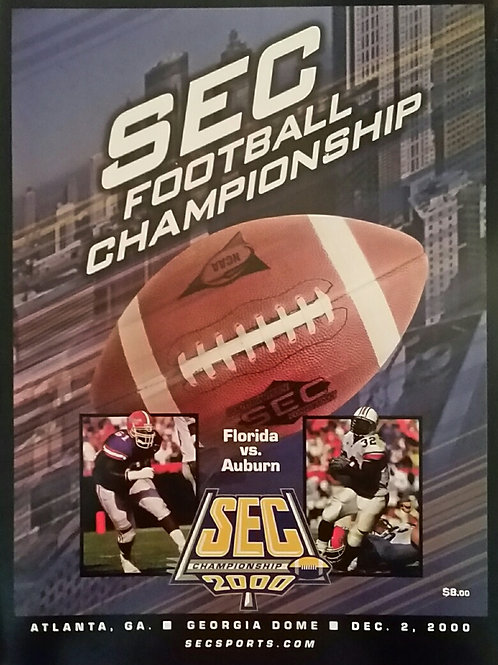 2000 SEC Championship Program, AU v. UFL