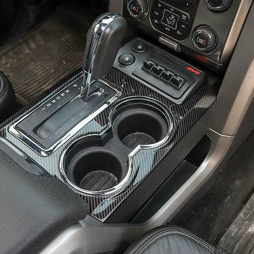 09-14 F150 SVT Raptor Molded Carbon Fiber Center Console Cup Holder Trim Cover