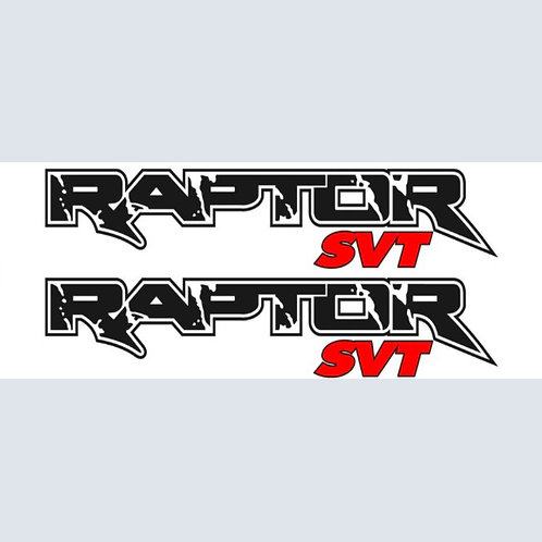 "28"" x 5.5"" BLACK Ford Raptor SVT ORACAL Decals"