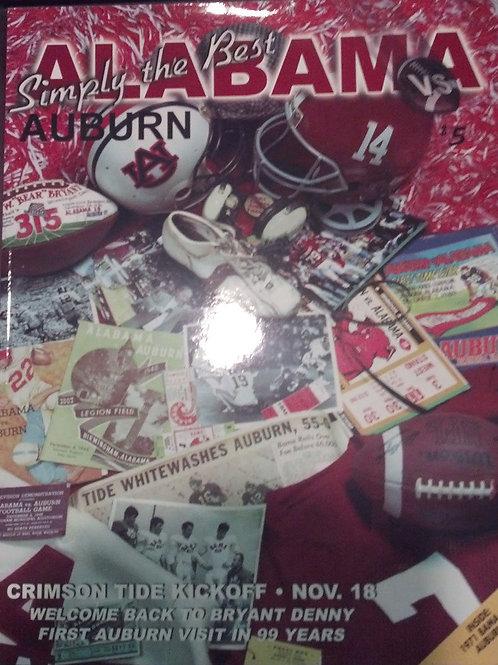 2000 Auburn vs. Alabama Game Program