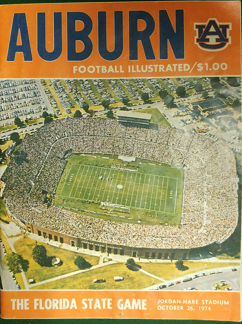 1974 Auburn vs. Florida State Game Program
